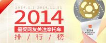2014最受网友关注摩托车排行榜