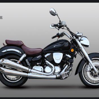 力帆摩托 V16/250-D 复古巡航电喷双缸太子摩托车