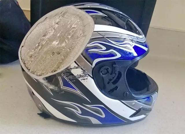 骑车为什么要戴头盔?看看这组照片吧
