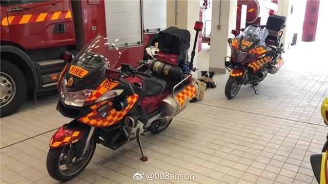 香港引进宝马R1200RT消防摩托车