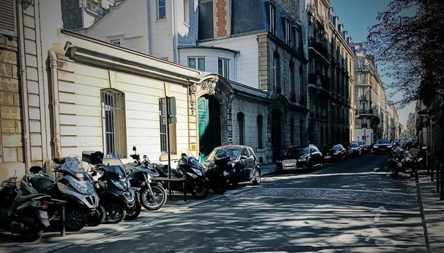 印象巴黎:咖啡&摩托车