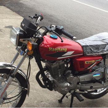 豪江摩托车 HJ150-22 150中钝化边磨砂铜专盖普通油箱 可调后减 前后小鼓 预定优惠