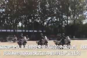 这支帅气的流动仪仗队 炫起摩托特技超拉风