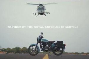 印度空军开战机为摩托车厂家站台拍广告