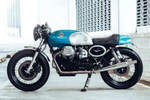 蔚蓝的复古情怀 Moto Guzzi 850 T3
