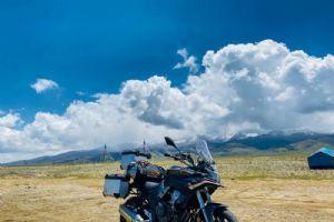 第一辆摩旅新疆的500DS