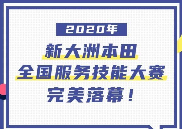 2020年新大洲本田全国服务技能大赛完美落幕!