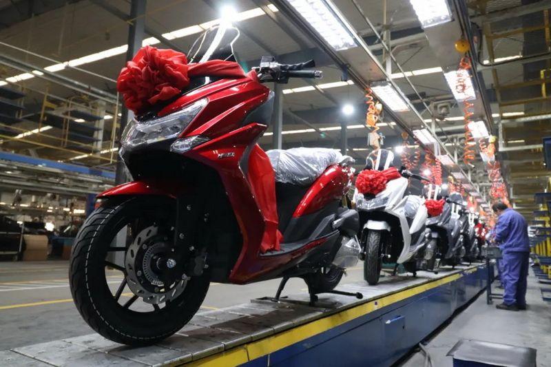 大阳首款Vi-Core动力摩托车V锐150T昨日下线!