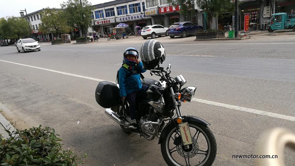 第一次骑摩托车带儿子去窑湾古镇游玩、骑行来回一共110公里