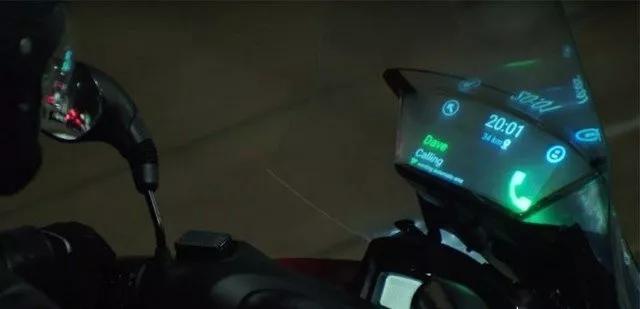 三星发布了一款智能摩托前挡风玻璃概念产品