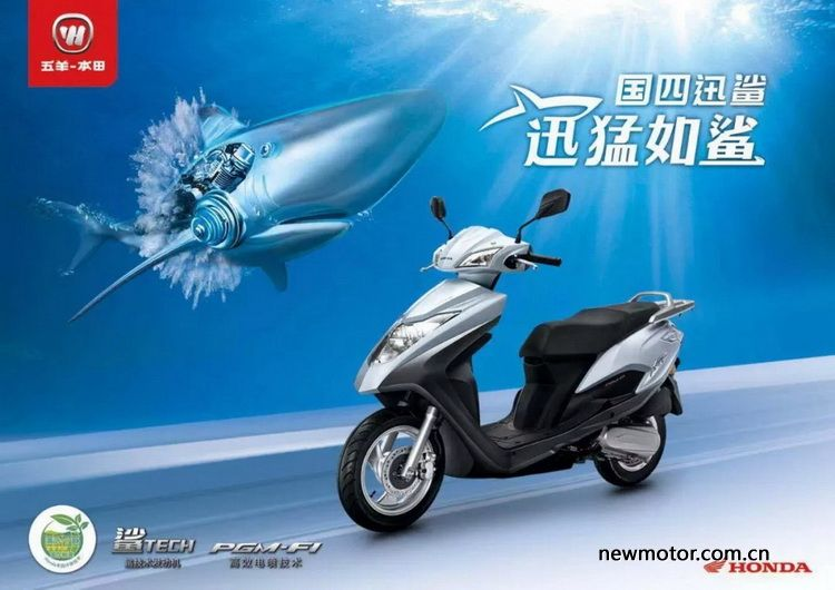 澎湃动力 五羊-本田国四迅鲨全新上市