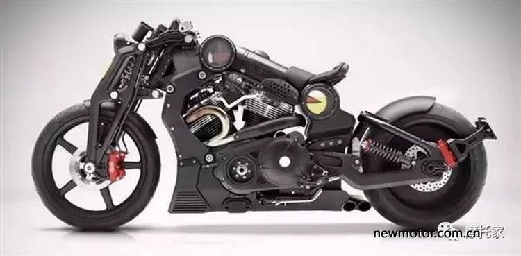 神似战斗机的美感霸气十足的肌肉摩托车