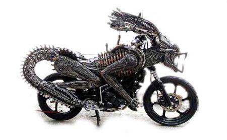 终极战士摩托车